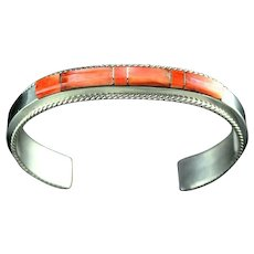 Channel Inlay Bracelet by Fran Yazzie