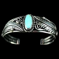 Navajo Sterling and Turquoise Bracelet