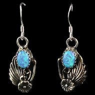Navajo Sterling and Opalite Earrings