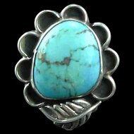Navajo Traditional Blossom Ring   Size 5