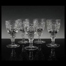 Set of Regal Wine Glasses by Royal Leerdam ca 1948-50's