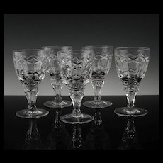 Set of Regal Wine Glasses by Royal Leerdam ca 1948-50's