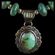 White Fox Creation: Royston Turquoise and Crazy Lace Agate Necklace