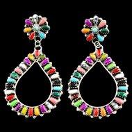 Multi- Stone Extra Large Earrings