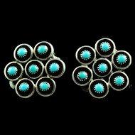 Vintage 1950's Zuni Petit Point Earrings