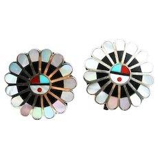 Zuni Sunface Earrings by Norita Yamutewa