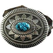 Outstanding Belt Buckle by Navajo Artist Rick Martinez