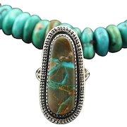 Navajo Boulder Turquoise Ring