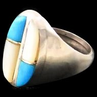 Navajo Rolled Inlay Ring