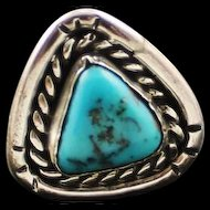 Triangular Pyramid Shaped Navajo Ring