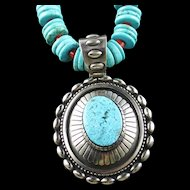 White Fox Creation: Turquoise and South China Sea Coral Necklace