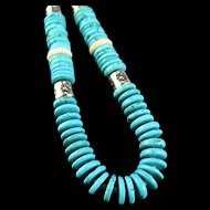 From Dawn to Midnight Turquoise and Onyx Necklace