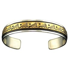 Sterling and Gold Fill Navajo Bracelet