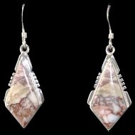 Navajo Wild Horse Magnesite Earrings