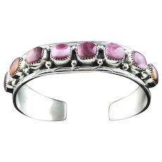 Navajo Sterling and Purple Spiny Oyster Bracelet