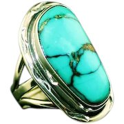 Navajo Turquoise and Sterling Ring