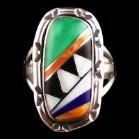 Multi Stone Inlay Ring