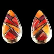 Tri- Color Spiny Oyster Earrings
