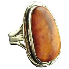 Navajo Sterling and Spiny Oyster Ring