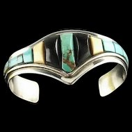 Artisan Made Rolled Turquoise Bracelet
