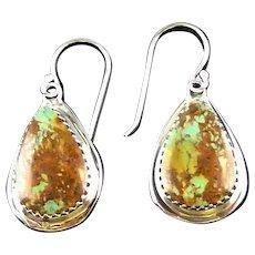 Navajo Boulder Turquoise Earrings