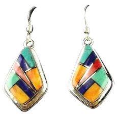 Channel Inlay Earrings by Melissa Yazzie