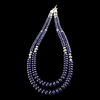 White Fox Creation: Double Strand Lapis Lazuli Necklace