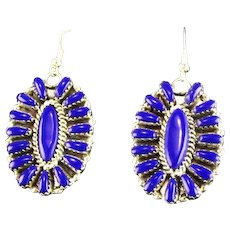 Multi Stone Sterling and Lapis Earrings