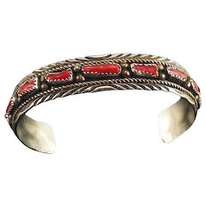 Native American Branch Coral Bracelet