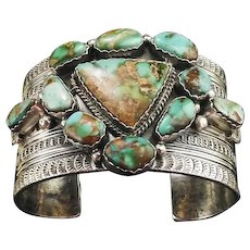 Gorgeous Royston Turquoise Bracelet by Gilbert Tom