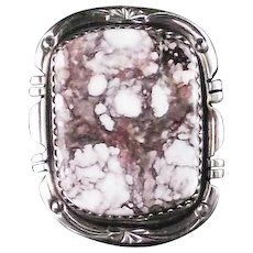 Navajo Wild Horse Magnesite Ring by Richard T. Thomas