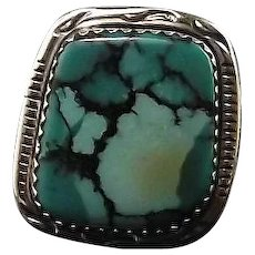 Navajo Sterling and Enchantment Turquoise  Ring