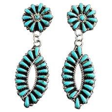 Navajo Tom Billy Double Dangle Earrings