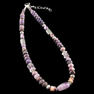 Charoite and Amethyst Necklace