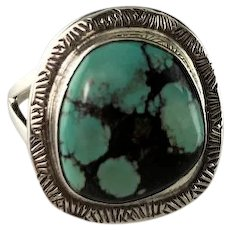 Sterling and Turquoise Ring by Richard Kee