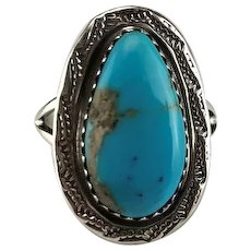 Navajo Sterling and Turquoise Ring by Richard Kee