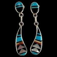 Zuni Post and Dangle Earrings