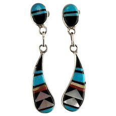 Zuni Post and Dangle Earrings