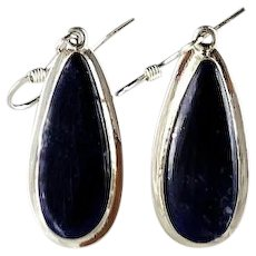 Sleek Sterling and Lapis Earrings by Melissa Yazzie