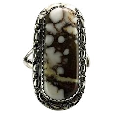 Sterling and Wild Horse Magnesite Ring by Richard Kee