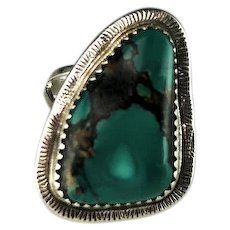 Sterling and Turquoise Ring by Navajo Artist Richard Kee