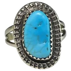 Navajo Sterling and Turquoise Ring by Rex Abeita