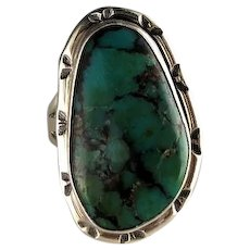 Navajo Sterling and Royston Turquoise Ring