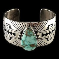 Gorgeous Sterling and Blue Carico Lake Turquoise Bracelet