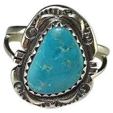 Petite Navajo Sterling and Turquoise Ring