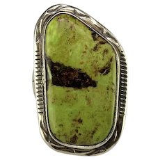 Navajo Sterling and Gaspeite Ring