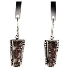 Sterling and Wild Horse Magnesite Earrings