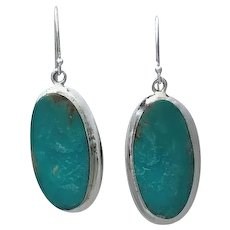 Turquoise and Sterling Earrings By Navajo Artist Melissa Yazzie