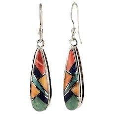 Multi Stone Earrings By Navajo Richard Kee