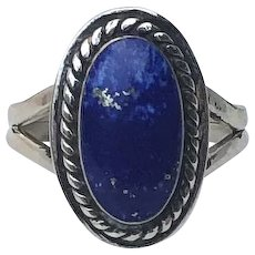 Navajo Sterling and Lapis Lazuli Ring